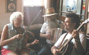 Bayou Seco playing in The Volunteer, Sidmouth, 2003