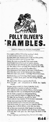 William Pratt No.233 (Polly Oliver's Rambles)