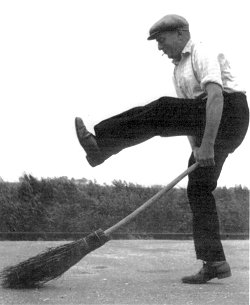 Arthur Randell performing the broom dance, from 'Sixty Years A Fenman'.