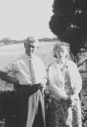 Bill and Veronica at  Birch Hall Farm, 1967.
