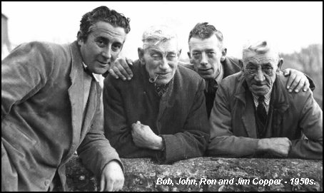 Bob, John, Ron and Jim Copper  - 1950s