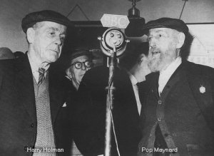 Harry Holman and Pop Maynard recording for the BBC. Photo courtesy Brian Matthews
