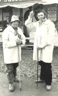 Cyril Phillips and Bob at the South of England Show at Ardingly, 1979