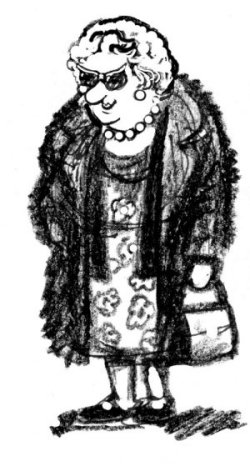 Ruby Cracknell - cartoon by Div Hill.