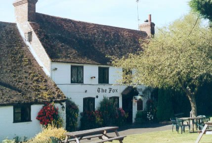 The Fox Inn, Buck's Green, on the Surrey-Sussex border.