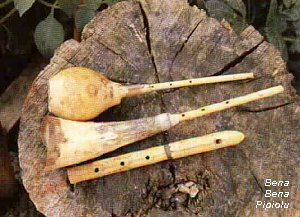 Picture of bena and pipiolu horn-pipes
