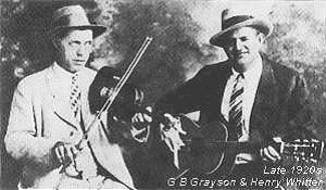 Henry Whitter, right, who recorded George Collins.