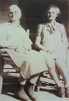 Mrs Dora Mae Shelton (right) with her mother, Mrs Linnie Shelton