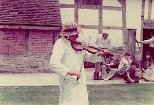 4 June 1976, Henry William 'Fiddler' Sturch playing for the Ilmington Morris Men